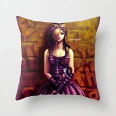 emo girl Throw Pillow