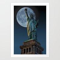 Liberty Moon Art Print