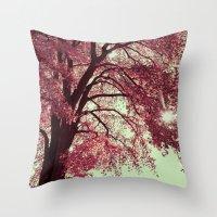 Autumn Blood Throw Pillow