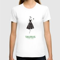 Taurus Womens Fitted Tee White SMALL