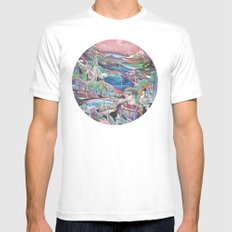 Dream Orb Mens Fitted Tee White SMALL