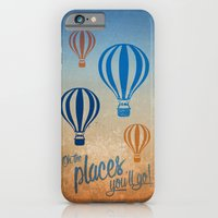 Oh, the Places You'll Go - Blue & Gold iPhone 6 Slim Case
