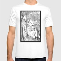 The Hill Mens Fitted Tee White SMALL