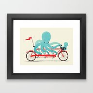 Framed Art Print featuring My Red Bike by Jay Fleck