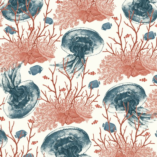 Aquatic Pattern Art Print