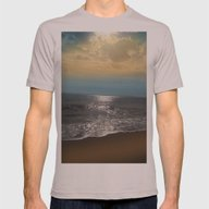 Golden Sky Over The Ocea… Mens Fitted Tee Cinder SMALL