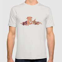 Cochon Mens Fitted Tee Silver SMALL
