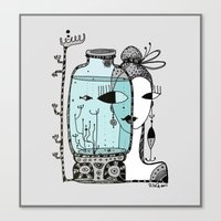 Fish In The Bank Canvas Print
