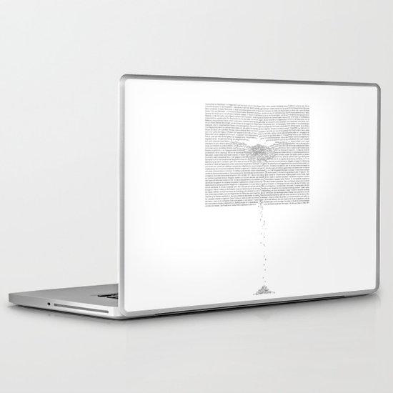 Erosion & Typography 1 Laptop & iPad Skin