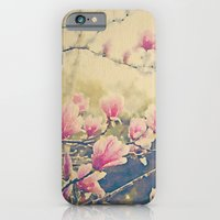 iPhone & iPod Case featuring Magnolia Tulip Tree in Spring -- Painterly in Vintage Tones by V. Sanderson / Chickens in the Trees