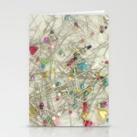 Pins And Needles Stationery Cards