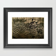The world is mine Framed Art Print