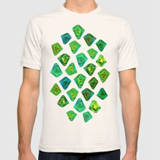 Green gemstone pattern. Mens Fitted Tee Natural SMALL