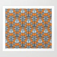 Art Print featuring Cascade - Orange by Gray