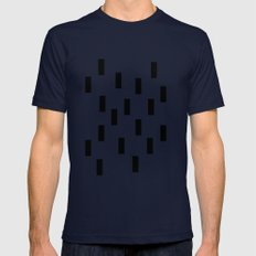Music.  Mens Fitted Tee Navy SMALL