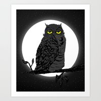 Night Owl V. 2 Art Print