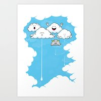 Young Clouds Fooling Aro… Art Print