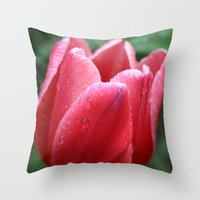 Tulip in red Throw Pillow