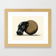 Volksdung Beetle Framed Art Print