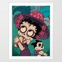 La Cartrina Betty (2nd Colorway) Art Print