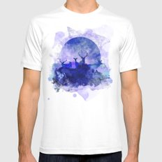 Dusk Mens Fitted Tee SMALL White
