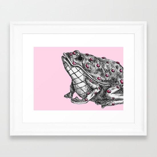 Lilly's frog Framed Art Print