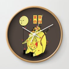 My Yellow Monster Wall Clock