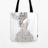 Flower Girl - pattern Tote Bag