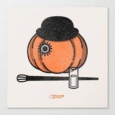 A Clockwok Pumpkin Canvas Print
