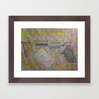 do you want to know how I got these scars? Framed Art Print