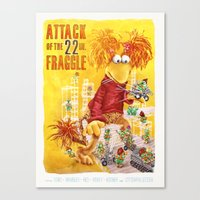 Attack of the 22 Inch Fraggle Canvas Print