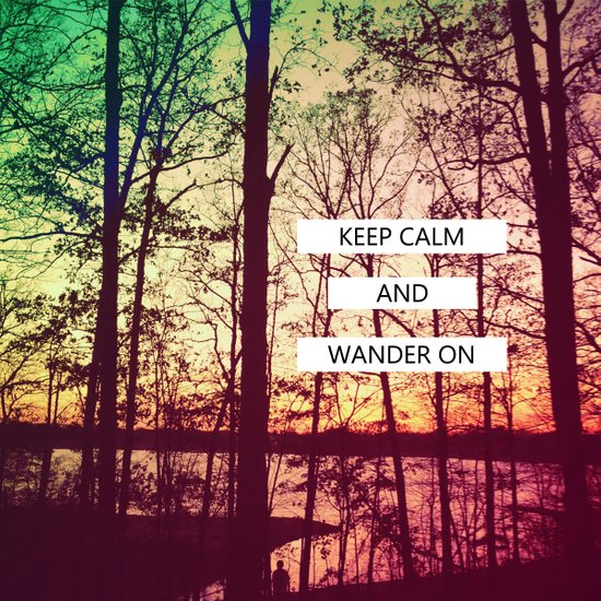 Keep Calm and Wander On Art Print