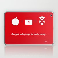 An apple a day keep the doctor away Laptop & iPad Skin