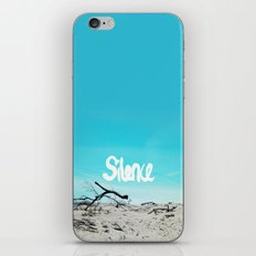 Silent beach hand lettering text print iPhone & iPod Skin
