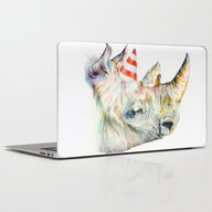 Laptop & iPad Skin featuring Rhino's Party by Brandon Keehner