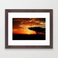 Firey Dragon  Framed Art Print
