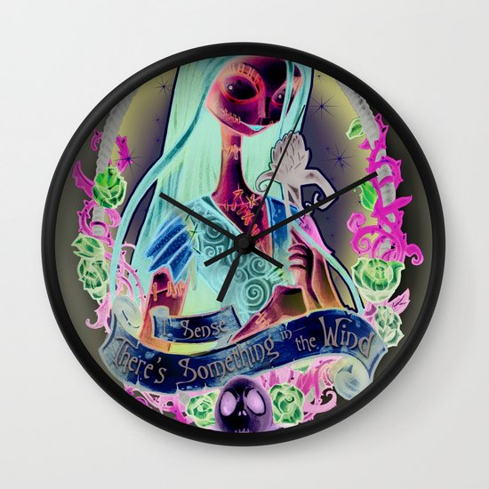 """""""Something In the Wind"""" Wall Clock"""