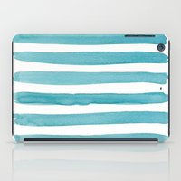 Watercolor Juicy Strokes: Teal iPad Case