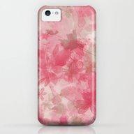 Pink Flowers iPhone 5c Slim Case