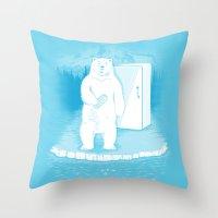 Save The Polar Bears, Ma… Throw Pillow