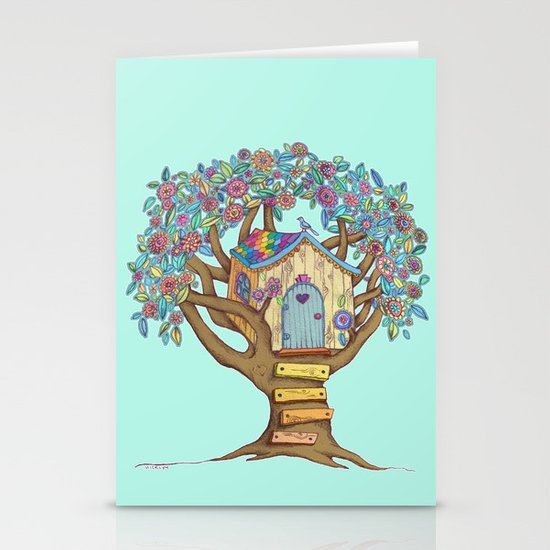 Live Simply, Love Trees Stationery Card
