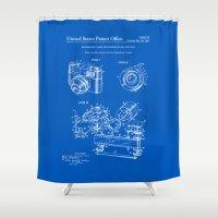 Camera Patent 1963 - Blueprint Shower Curtain