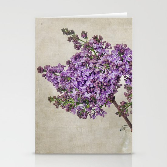 Lilacs Stationery Card