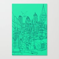 London! Mint Canvas Print