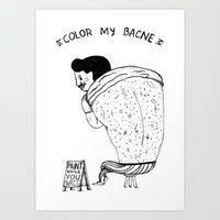 Color My Bacne Art Print