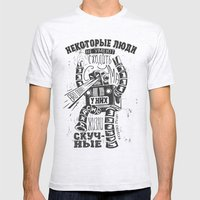 bukowski robot Mens Fitted Tee Ash Grey SMALL