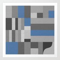 White Rock Blue Art Print