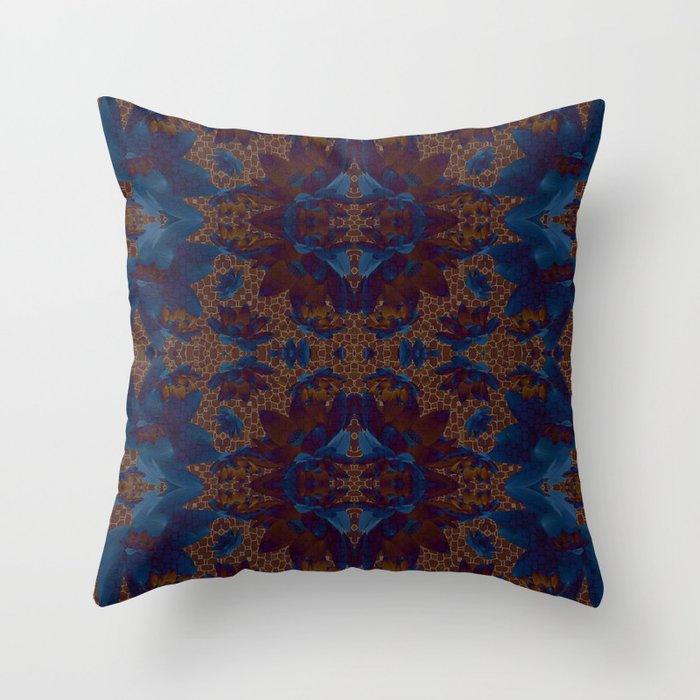 Blue Lotus flower Throw Pillow by MinaSparklina Society6