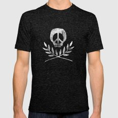 Peace is Death Mens Fitted Tee Tri-Black SMALL