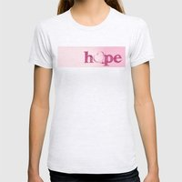 A Heart of Hope - Pink Womens Fitted Tee Ash Grey SMALL
